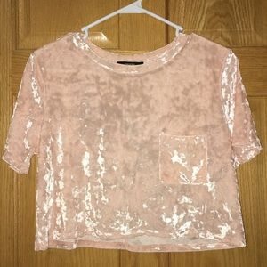 🚨NWT🚨 FOREVER21 CRUSHED VELVET CROP TOP